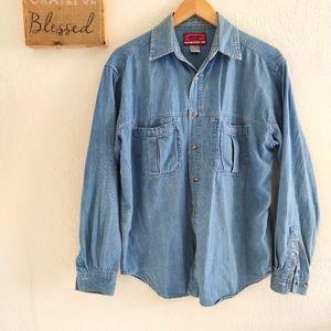 Marlboro Country 💙 Vintage Chambray Denim Shirt